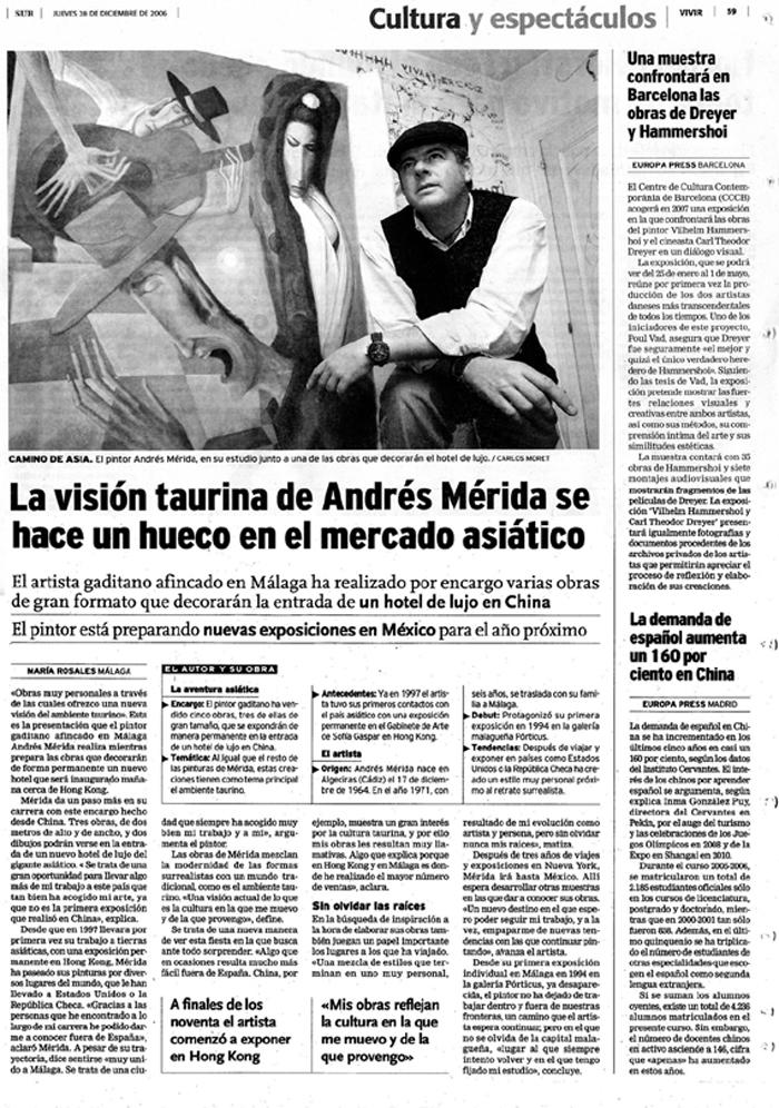 La visión taurina de Andrés Mérida se hace un hueco en el mercado asiático