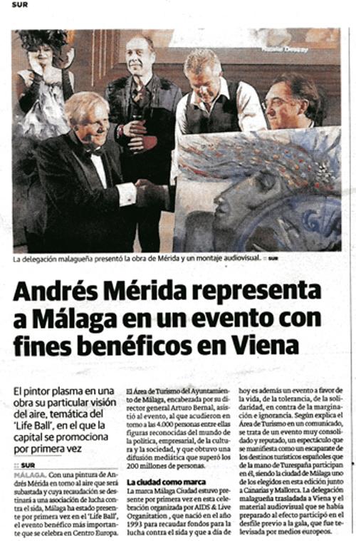 Andrés Mérida en Life Ball de Viena
