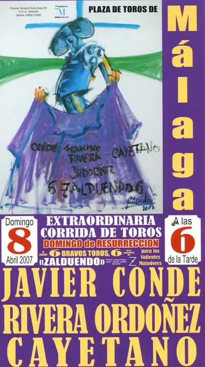 Cartel de toros Málaga
