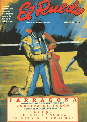 """Portada Revista taurina """"El Ruedo"""""""