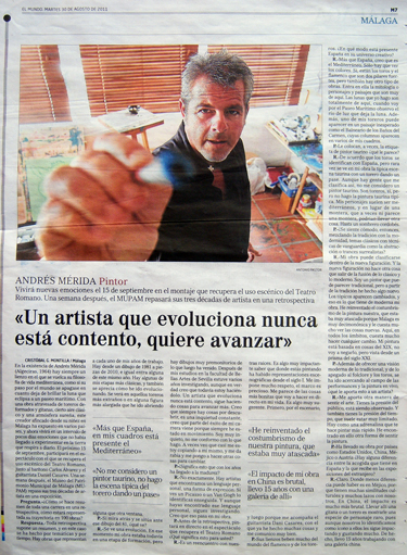 Interview for the newspaper El Mundo