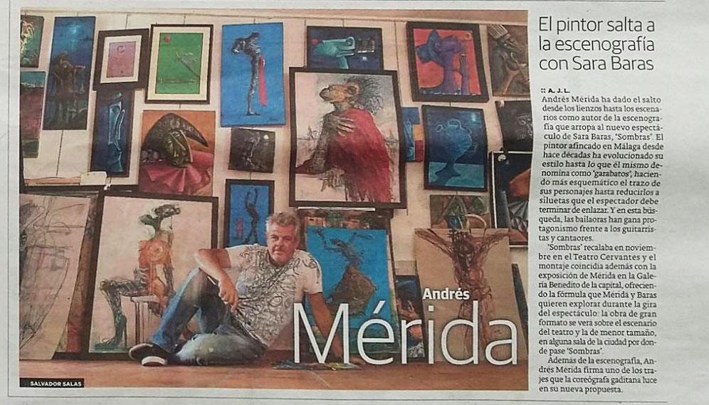 Andrés Mérida salta a la escenografía con Sara Baras